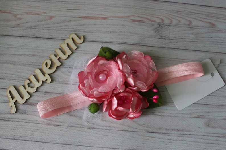 Light Pink Headband Pink Satin Headband Hot Pink Baby Headband Bright Pink Headband Newborn Headband Adult Headband Baby Flower Headband