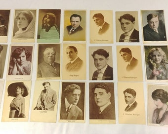 22 Edwardian Early 1900's Celebrity Hollywood Silent Movie Actor Actress Postcard Lot UNUSED!