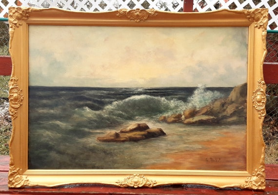 Amazing Find Listed Artist G Reichel Signed Antique Oil Canvas Etsy