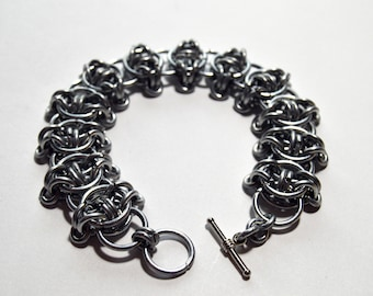 Steel Elf Chain Bracelet with Toggle Clasp