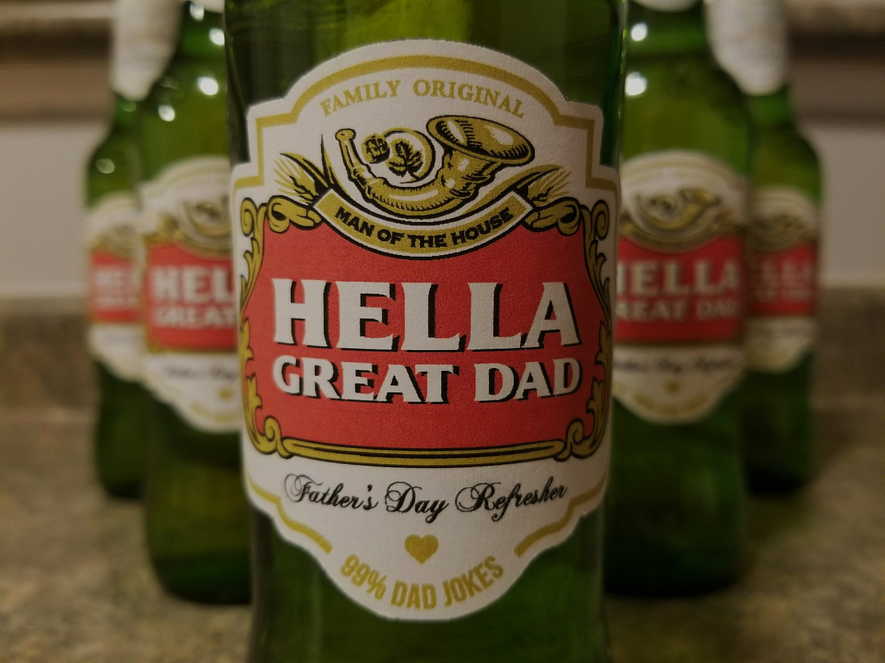 Hella Great Dad - Printable Beer Label - Fathers Day Gift