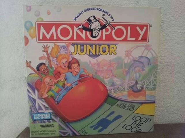 Monopoly Junior Vintage Juego Monopoly Junior Monopoly Juego Etsy