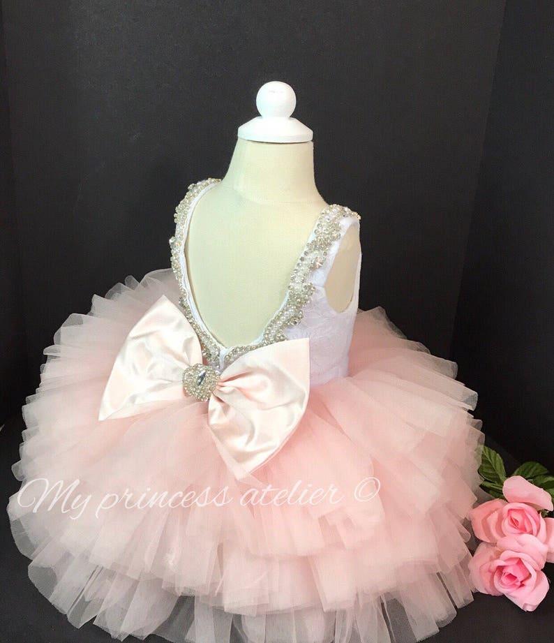 5052e6714 Pink princess dress girl pink birthday dress pink flower | Etsy