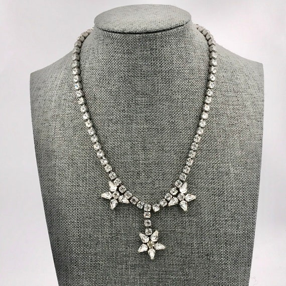 1940s Vintage Star Celestial Rhinestone Studded Ne
