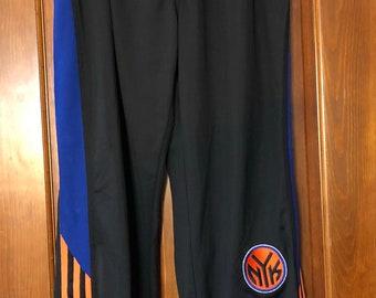 New York Knicks NBA Adidas Athletic Warm Up Snap Pants XL c65532b13