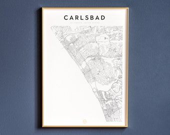 Carlsbad map inkjet printing on Epson original paper