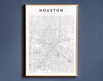photo relating to Printable Gold Card Application Harris County referred to as Houston map Etsy