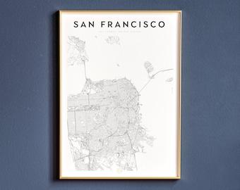 graphic regarding Printable Maps of San Francisco identified as San francisco map Etsy