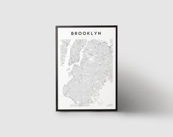 Brooklyn print etsy brooklyn map print wall art map wall decor map print poster art print brooklyn brooklyn art brooklyn decor brooklyn map malvernweather Images