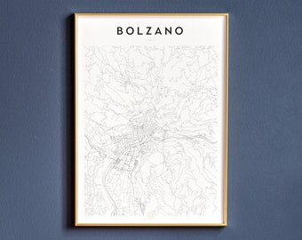 Vintage Travel advertising poster Wall art. Bolzano-Gries