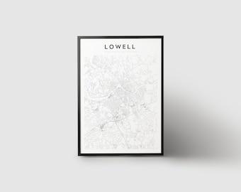 Lowell Map Print