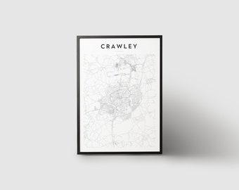 Crawley Map Print