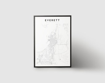 Everett Map Print
