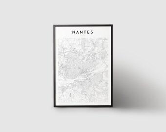 Impression de carte de Nantes