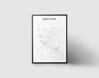 Denton Map Print