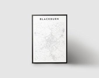 Impression de carte de Blackburn