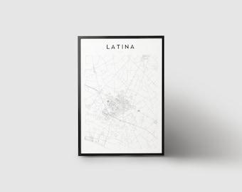 Latina Map Print