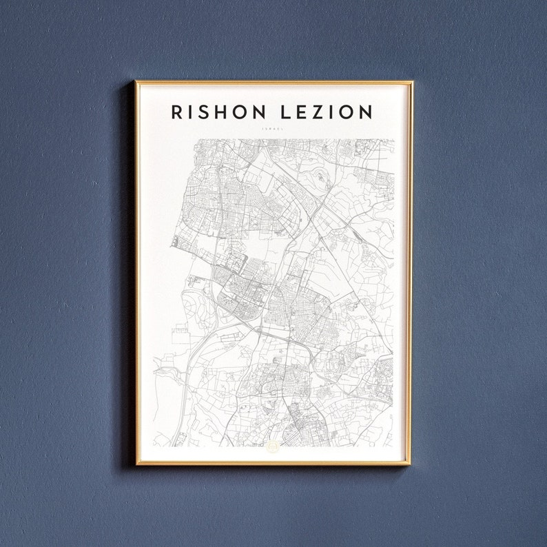 Rishon LeZion Map Print | Map | Wall Decor | Map Print | Art Print | Poster  | Wall Art | Map Art | Rishon LeZion | Rishon LeZion Art