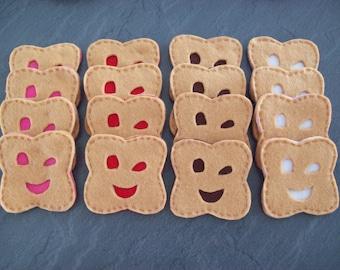 1 Bn handmade felt smile cookie