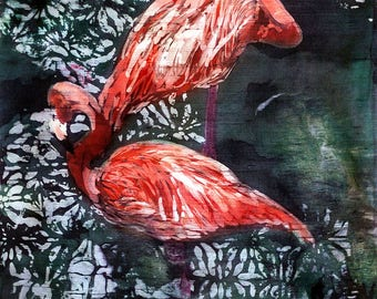 Flamingo Dos--printed Tile