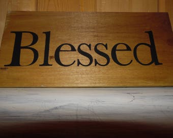 Wood Signs Rustic Wall Decor Blessed Welcome Bless Our Home