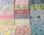 30 x Liberty of London 4.5 inch squares for patchwork quilts and crafts