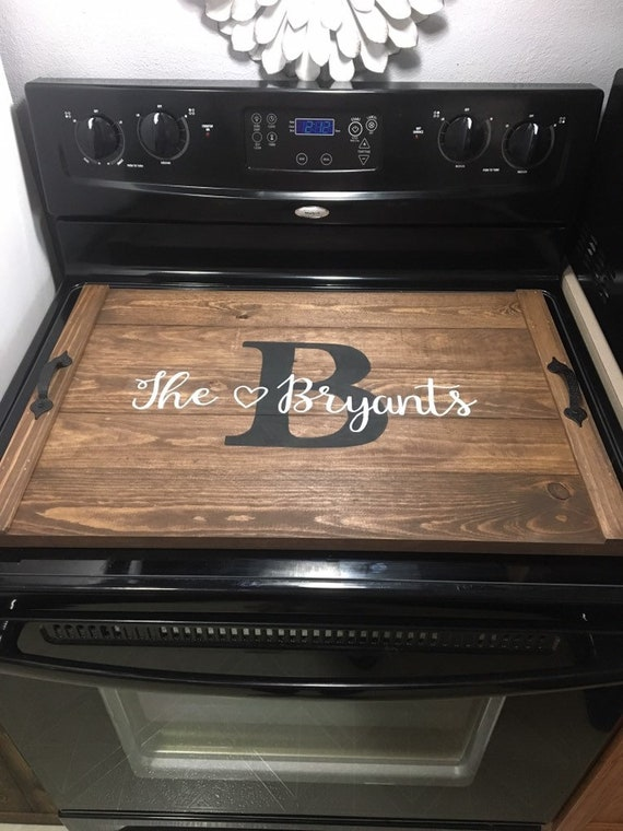 Stove Top Cover Wood Serving Tray Kitchen Decor StoveTop Cover Noodle Board  Wedding Gift Gas Electric Burner Cover Glass Personalized