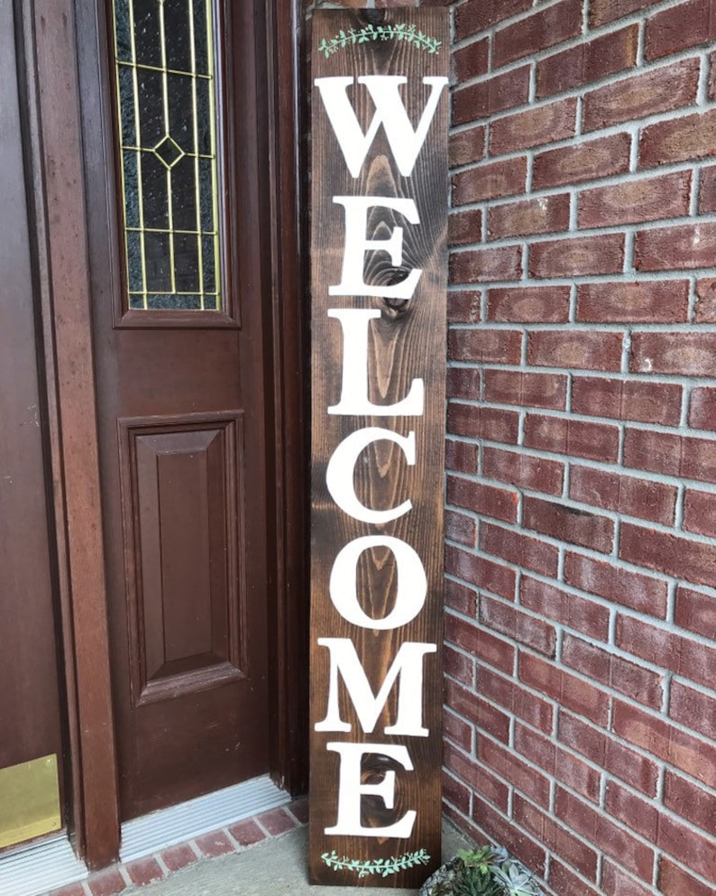 Welcome Sign Spring Welcome Sign Porch Decor Front Door Decor  PaintandPineDesigns