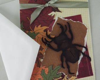 Handmade Beetle Greeting Card