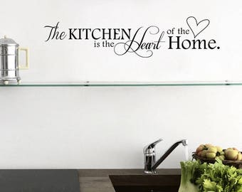 The Kitchen is the Heart of the Home #2-Vinyl Wall Decal Kitchen Decor