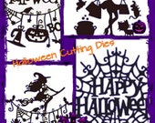 Happy Halloween Metal Cutting Dies Craft Dies Card Making Scrapbooking Halloween Cutting Die to Make Die Cuts Witch Jack-O-Lantern Spider