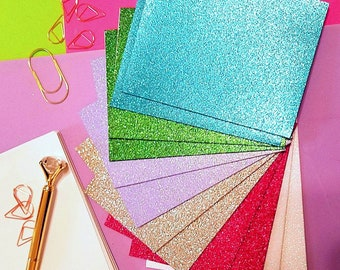Glitter Cards Envelopes 24 Pc Card Stock Birthday Christmas Paper Blank Sparkle Greeting
