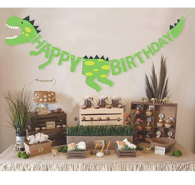 Dinosaur Birthday Banner Party Jurassic Park World T Rex Decorations Boy Supplies