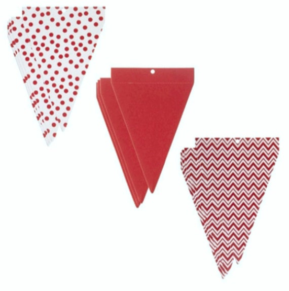 24 Pc DIY Red Birthday Banner Christmas Party Banner Red Party Etsy