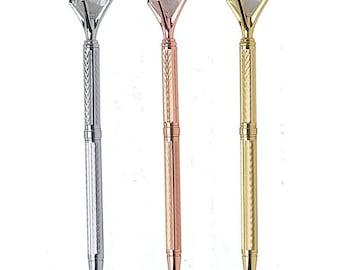 Crystal Pen/Diamond Pen/Rose Gold Pen/Bridesmaid Gift/ Wedding Guestbook Pen/Planner Pen.