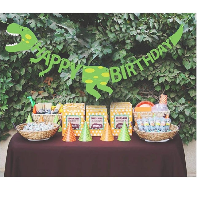 Dinosaur Birthday Banner Party Jurassic Park World T Rex Decorations Boy Supplies