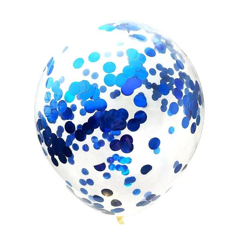 BLUE CONFETTI Metallic Foil Baby Shower First Birthday