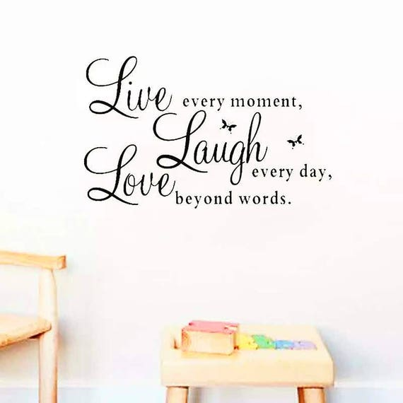 Leben Lachen Liebe Zitate Wandtattoos Wand Zitate Leben Etsy