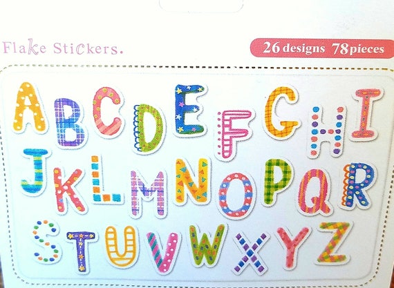 Alphabet Stickers Planner Stickers Scrapbook Letters Etsy