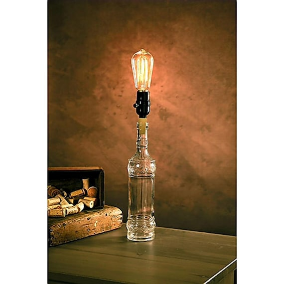 Cork Bottle Lamp Kit Diy Edison Lamp Man Cave Gift Vintage Lighting Lamp Adapter Father S Day Gift For Man