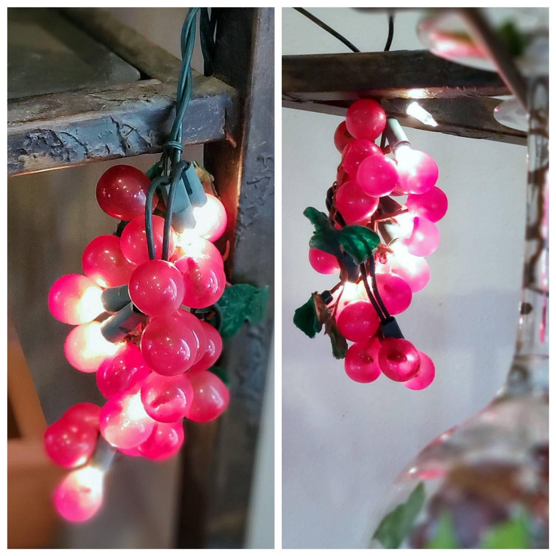 String Lights Red Grapes Indoor Outdoor Bar Wine Etsy