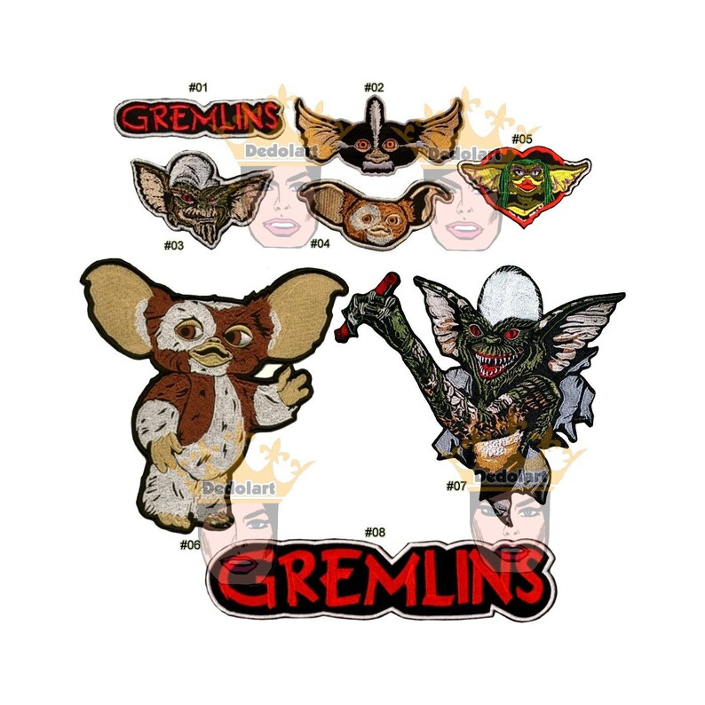 Gremlins Embroidered Patch Big or Small Movie Film Word Logo  66dda13c31691