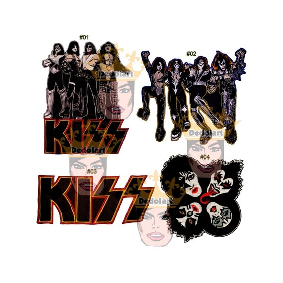 Kiss Band Iron On Patch New Gene Simmons Paul Stanley