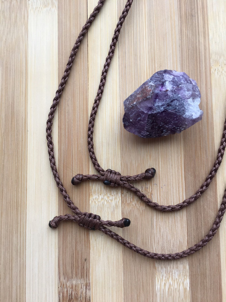 BFF Necklaces Macrame Jewelry BFF Jewelry Amethyst Crystal Necklace Set Amethyst Jewelry Amethyst Necklace Matching Necklaces Set