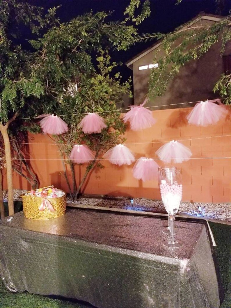 477d8c89c627 Baby shower tutu skirt decoration. It s a girl tutu