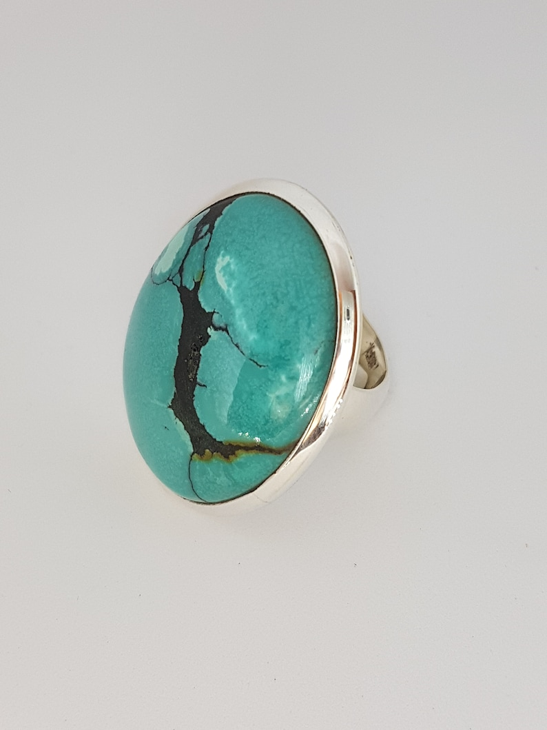 Magnificent Tibetan Turquoise Silver Ring
