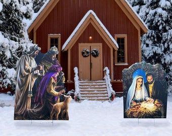 christmas nativity outdoor set