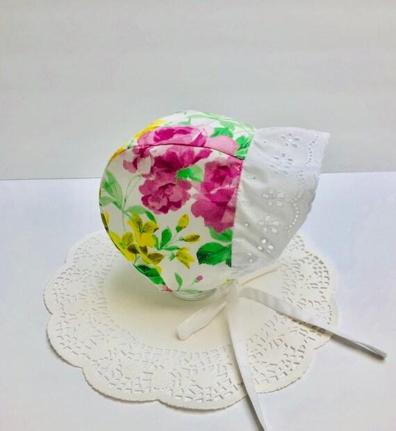 6-9month little girl/'s sunbonnet custom orders cotton crocheted sunbonnet