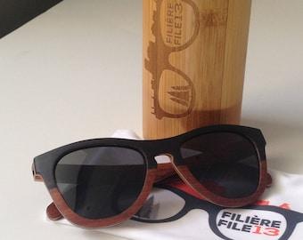 Gravity Wooden Sunglasses - Black polarised UV400 shades