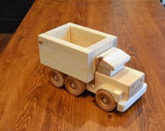 Handmade Wooden Dump Truck, Wooden Truck